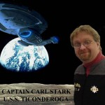 Captain Carl Stark and the USS Ticonderoga by Kevin Hancock