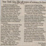 Captain Carl Stark responds to Orson Scott Card