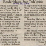 Lt. (j.g.) Tonya Wright posts a letter in response to Orson Scott Card
