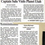 Fan Fest 2000 article from the Salt Lake Tribune