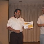 David Thalmann receiving a Crewmember of the Month Award