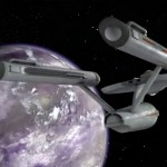 USS Ticonderoga in orbit