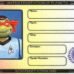 Raphael's Ticonderoga membership ID by Lt. (j.g.) Kenway Miller