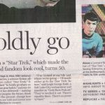 Salt Lake Tribune 50th Star Trek article pg 1