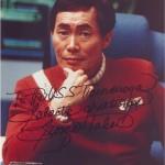 George Takei sending his greetings to the USS Ticonderoga