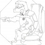 Ticonderoga Coloring Page Pt 1 by Brad Jacobs