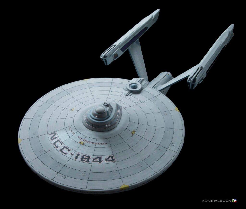 USS Ticonderoga model saucer section.